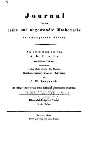 Journal fur die reine und angewandte Mathematik