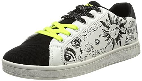 Desigual Shoes_Cosmic_Lettering, Zapatillas Mujer, Blanco, 38 EU