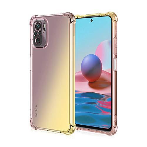 GOGME para Xiaomi Poco M3 Pro 5G | Redmi Note 10 5G Funda, Cubierta Delgado de Silicona Funda Protective Case Cover, Carcasa Fibra TPU [Diseño Durable] [Máxima Protección contra Golpes] - (Negro/Oro)