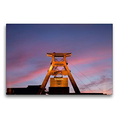 CALVENDO Premium Textil-Leinwand 75 x 50 cm Quer-Format Zeche Zollverein Essen, Leinwanddruck von Peter Schickert
