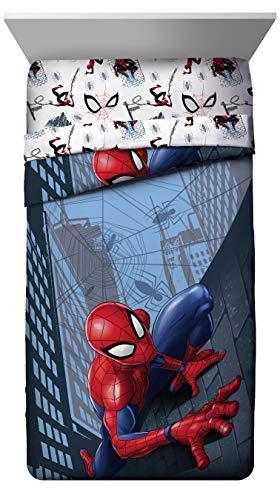 Product Image 2: Jay Franco Marvel Spiderman Crawl 5 Piece Full Bed Set – Includes Reversible Comforter & Sheet Set Bedding – Super Soft Fade Resistant Microfiber – (Official Marvel Product)