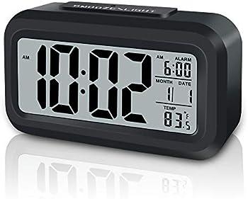 Gloue Digital Alarm Clock Battery Operated