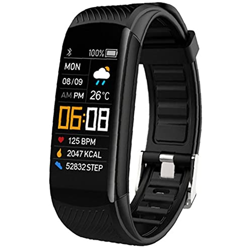 Inteligente Reloj Pulsera de Reloj del perseguidor Impermeable de tensión Inteligentes Pulsera Inteligente Reloj del Ritmo cardíaco de Sangre rastreador de Ejercicios Negro