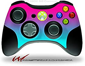 Smooth Fades Neon Teal Hot Pink - Decal Style Skin fits Microsoft XBOX 360 Wireless Controller (CONTROLLER NOT INCLUDED)