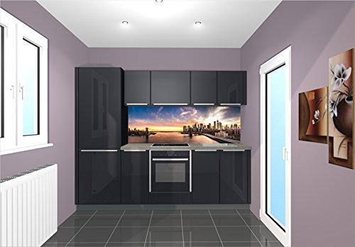 TiDis Küchenrückwand/Nischenverkleidung/Fliesenspiegel perfekt für die individuelle Küche - 180x55cm (BxH) Motiv: Brooklyn Bridge