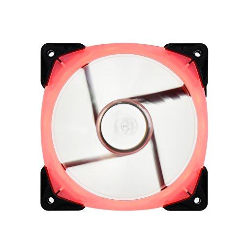 SilverStone SST-FW123-RGB - Ventilador silencioso de refrigeración de 120mm PWM Serie FB, Aspas Transparentes con Marco Negro, Rodamientos de Bolas, LED RGB