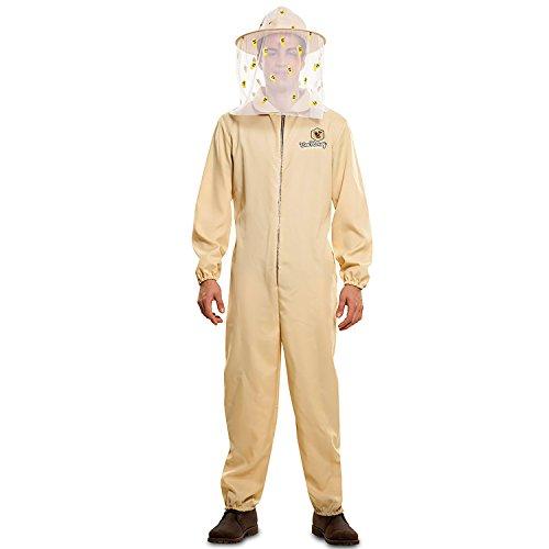 EUROCARNAVALES Kostüm Imkermeister Matthias Gr. M/L beige Overall Imker Bienenzüchter Beruf Karneval (M/L)