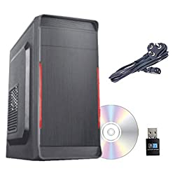 Gandiva Desktop Computer (Core I3 2nd Gen CPU / H61 Motherboard /8GB DDR3 RAM/WiFi Facility) with Windows 10 & MS Office (Trail Version) and Antivirus (Free Version) Pre-Installed (500GB HDD),Nallu Infotech,GandivaCI38500WIFI-2ND
