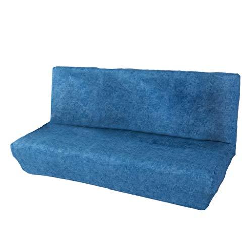 Baoblaze 2 Sitzer Sofabezug Stretchhusse Sofahusse Sofabezüge Sofa Sitzbezug für Wohnzimmer - Dunkelblau S