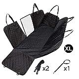 Zwy Cómodo Lino Artificial Cubierta de Asiento del clásico de la Tela Escocesa de Auto Asientos con Cojines fácil de Instalar / 1 Trasero o Delantero 2 Protección del cojín Durable (Size : Black)