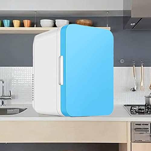 KCSds Mini refrigerador Personal, Mini refrigerador silencioso de 8 l para automóvil, Material de Polipropileno, frigorífico doméstico portátil frío y cálido, Mini refrigerador para