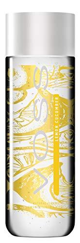 VOSS Water Flavored Sparkling Water, Lemon Cucumber, 330 ml Plastic Bottles (12 Count), 133.8 Fl Oz
