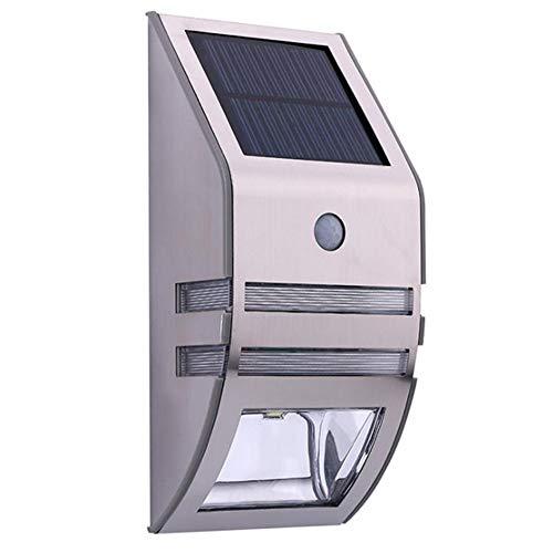Luz Solar Exterior 140 LED con Sensor de Movimiento - Luces LED Solares Exteriores 250º lluminación Focos Solares Exterior Impermeable - Lámpara Solar Exterior [Clase de eficiencia energética A+++]