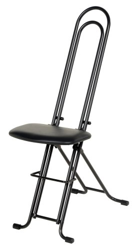Vestil CPRO-800LP Ergonomic Worker Seat/Chair, 13-1/2' Width, 10' Depth, 220 lb. Capacity, 18-1/2' - 33' Height Range