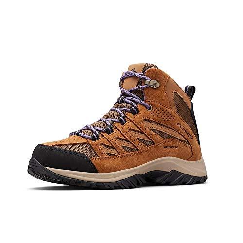 Columbia Women's Crestwood Mid Waterproof Hiking Boot Shoe, Dark Truffle, Plum Purple, 8
