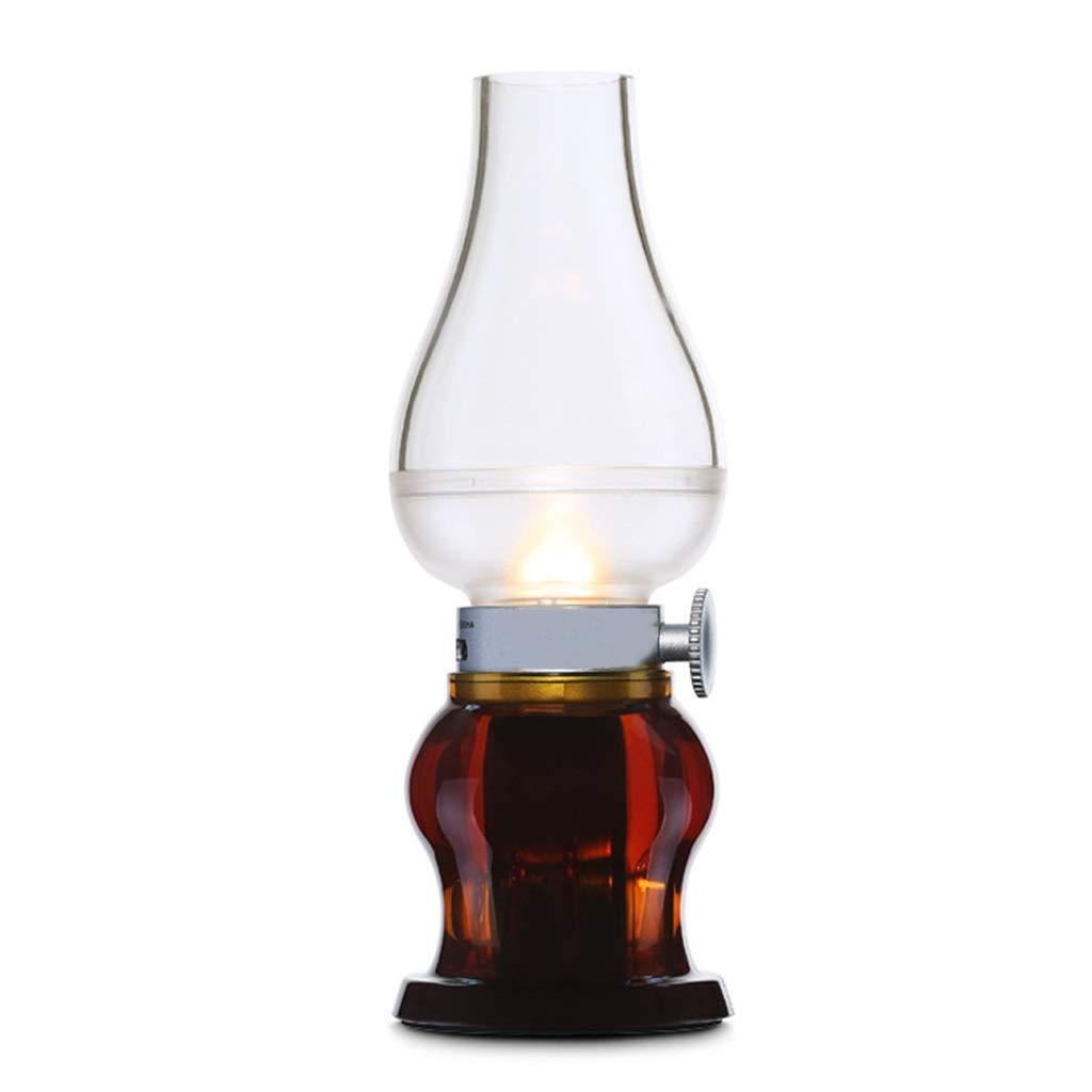 vino rosso LEDMOMO Lampada da tavola Retro LED ricaricabile LED controllo cherosene lampada della candela Nostalgia Retro Style dimmerabile portatile