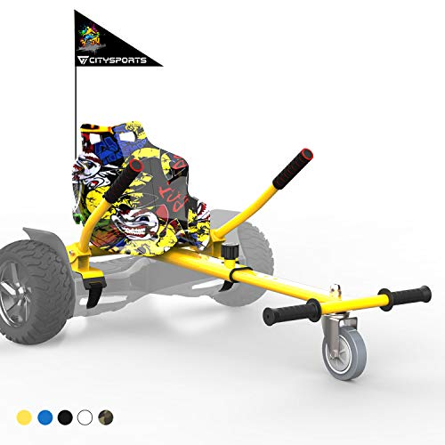 CITYSPORTS Hoverkart - Go Kart Versione Bambino con Sedile per Hoverboard - Fissaggio Regolabile Universale Hoverkart, Compatibile con Tutti Gli Hoverboard