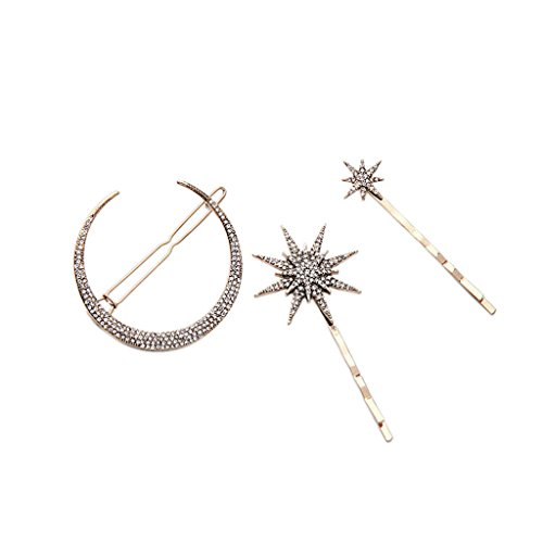 Clip à Cheveux Bijoux Cristal Lune Étoile Rhinestone Hairpin Cheveux Cadeau