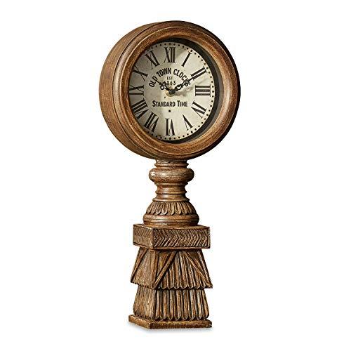 Loberon Uhr Selly, MDF, H/B/T ca. 44.7/20 / 9.7 cm, braun