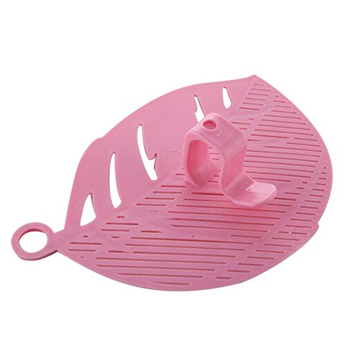 Lame de Nettoyage Durable Forme écran de Lavage de Grain de Riz Pois Pois Gadgets de Nettoyage Outils de Pince de Cuisine Accessoires de Cuisine - 5, Rose