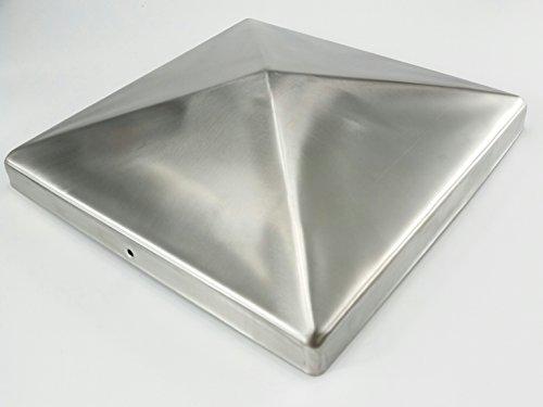 1 pièce, 201 mm Premium Capuchons de poteau en acier inoxydable, capuchon pour poteau 20 x 20 cm, poteau V2 A de jardin monde Verrou Berger