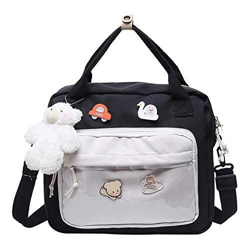 QPYYBR Mochilas escolares de estilo japonés para adolescentes, bolso de mano, bolso de nailon, mochila, bolso de hombro para mujer, mochila Sac