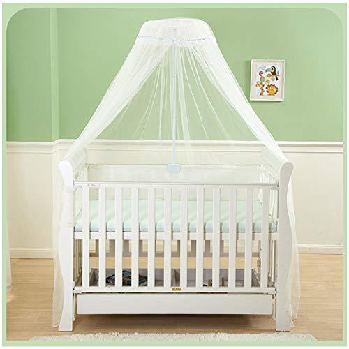 Bébé Canopy Drapé moustiquaire, Lit bébé Lit moustiquaire, Blanc à baldaquin pour Lit Filles Princesse Tente bébé Lit pour Enfant moustiquaire - Installation Facile Rapide,Blanc