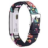 Vancle pour Fitbit Alta Bracelet en Cuir, Bracelet de Remplacement Fitbit Alta réglable et...