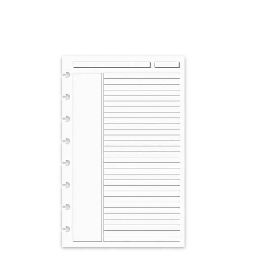 Levenger 300 Circa Annotation 1/4-Inch, Ruled Refill Sheets JNR (ADS5910 JNR)
