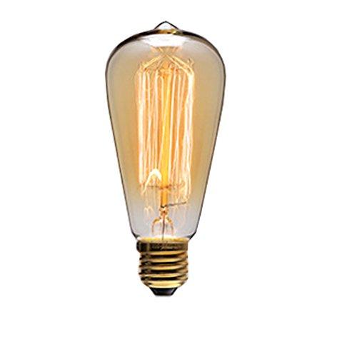 Vintage Edison Glühbirne Tungsten Filament Glühbirne Schraube E27, glas, ST58-1 220V 40W, E27 40.00 wattsW 220.0 voltsV