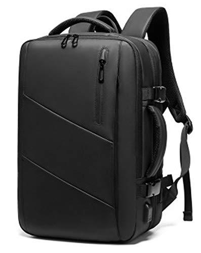 Mochila para computadora portátil, viaje de negocios, antirrobo, delgada y duradera, mochila para computadora portátil con puerto de carga USB, ajuste de 15.6 pulgadas, mochila escolar impermeable,