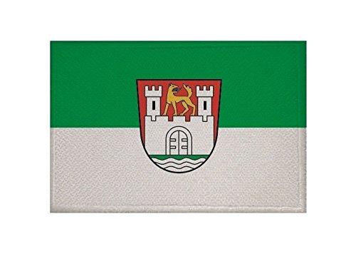 U24 Aufnäher Wolfsburg Fahne Flagge Aufbügler Patch 9 x 6 cm