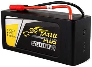 TATTU Plus 22000mAh 22.2V 25C 6S1P LiPo Smart Battery Pack with AS150 + XT150 Plug for UAV