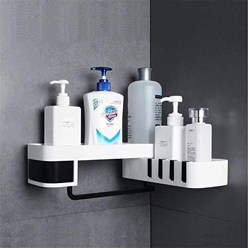 Volibear Badezimmer-Eckregal, drehbar, für Shampoo, Dusche, Schwarz, Schwarz , 34x11x8cm
