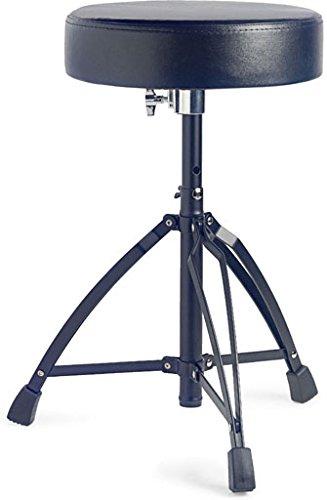 Stagg 18434 Professioneller Schlagzeughocker (Drummersitz, doppelstrebig, Höhe: 50-63 cm) schwarz