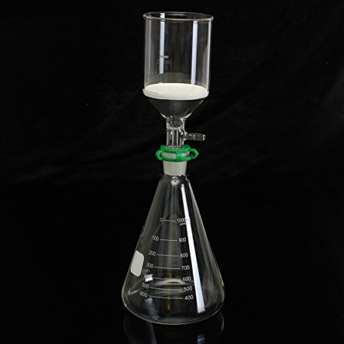 Glass Vaccum Suction Filter Filtration Kit 250ml Buchner Funnel 1000mL Conical Flask