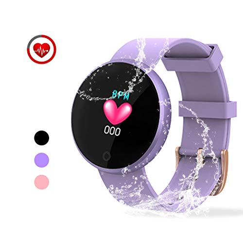 YONKFUL Activity Tracker for Women Smartwatch with Heart Rate Monitor Call & SMS Notification Pedometer IP68 Waterproof Sleep Monitor Smart Bluetooth Bracelet Fitness Gift Purple