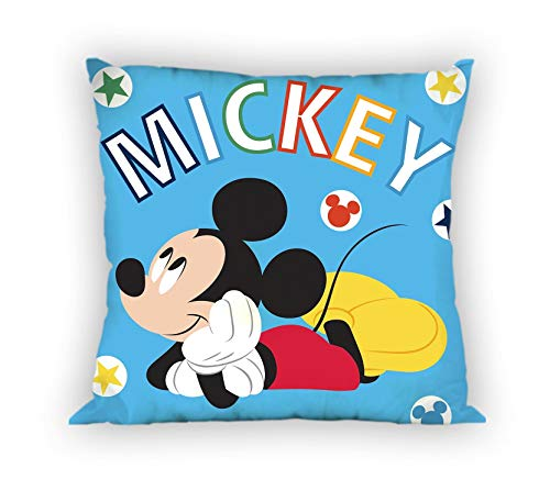 Mickey Coussin, Polyester, Multicolore, 35x35 cm