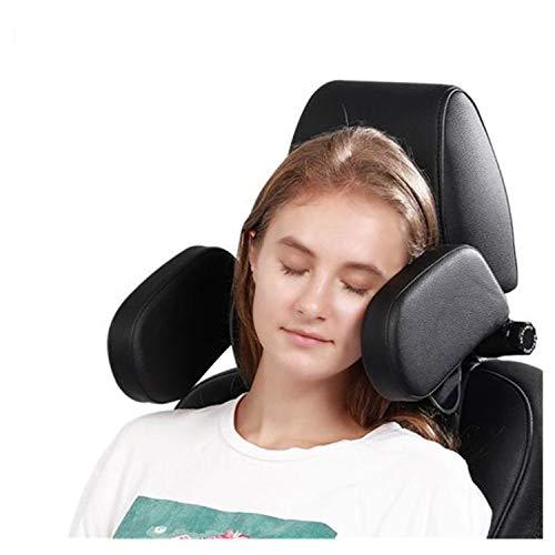 ErYao Car Headrest Pillow, Travel Headrest, Car Neck Pillow Head Pillow, Sleeping Travel Car Seat Pillow, Car Neck Head Shoulder Sleep Cushion Car Side Pillow for Kids Adults Elders (Black)
