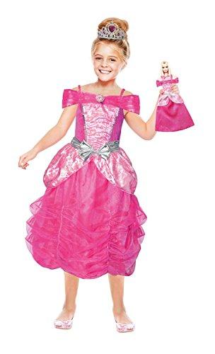 amscan–Chica Disfraz Barbie Corazón Princesa y Mini Me