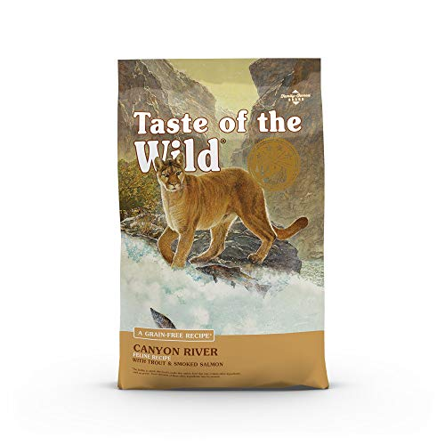 Taste of the Wild Grain Free High Protein Real Meat Recipe Canyon River Premium Dry Cat Food