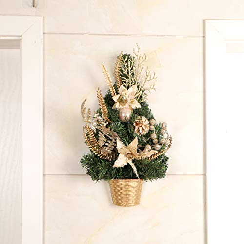 Christmas Tree Decorations Artificial Tree,Hanging Christmas Tree with Led Ornaments,Creative Pine Needles Half Xmas Tree for Door Wall