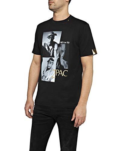 REPLAY M3946e.000.22628 Camiseta, (Black 98), Medium para Hombre