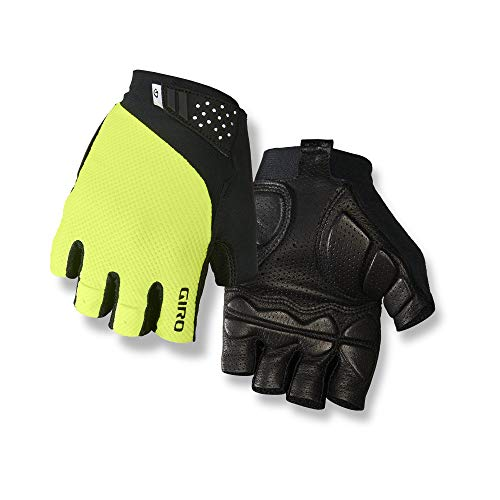 Giro Monaco II Gel Men's Road Cycling Gloves - Highlight Yellow (2021), Medium