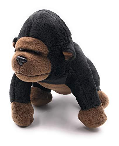Onwomania Plüschtier Kuscheltier Stoff Tier Gorilla stehend AFFE 16 cm