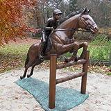 Bronze Tierfigur mit Pferd - Gartenfigur - 'Amazone'