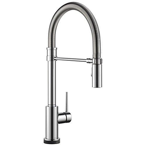 DELTA Trinsic Pro Single-Handle Spring Spout Touch Kitchen Sink...