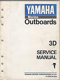 7/1989 YAMAHA MARINE OUTBOARD 3D LIT-18616-00-46 SERVICE MANUAL (911)