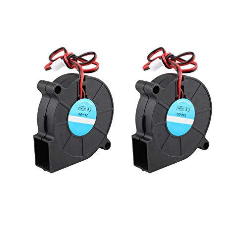 Jopto Ventola Di Raffreddamento per Stampante 3D, DC 24 V, 50 x 50 x 15 mm, 5015, Ventola Di Raffreddamento Radiale, 2 Pin, Dissipatori Di Calore