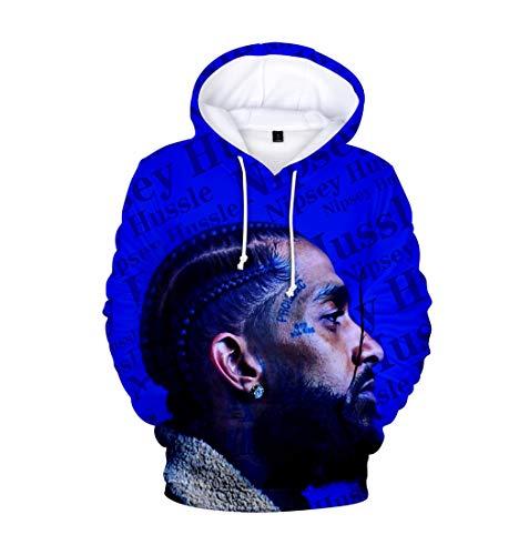 APHT Unisex Rip Nipsey Hussle Hoodie 3D Bedruckte Langarm-Sweatshirts Cool Rapper Hip Hop Straßenstil Loose Sweatshirt